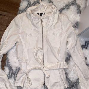 A/X Armani Exchange white light moto jacket ⚪️⚫️